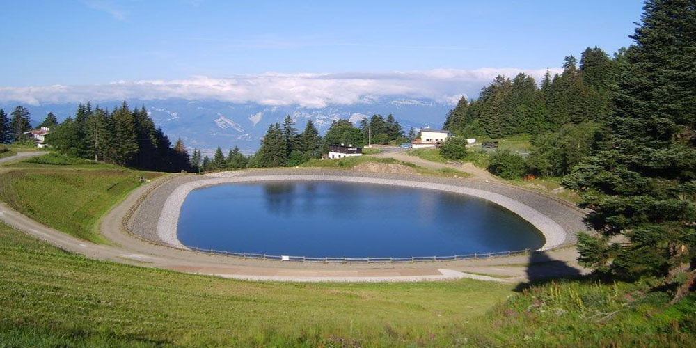 étancheité bassin retenue de montagne