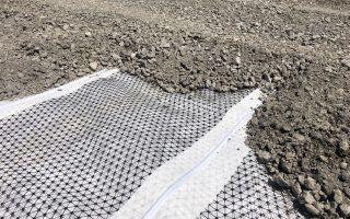 Stabilisation et drainage parking Aéroport Biarritz Pays Basque